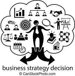 businessman strategy decision