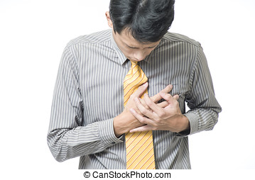 Businessman strong heart attack