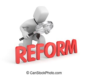 Businessman studies reform