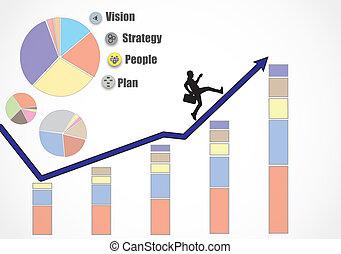 businessman success arrow concept