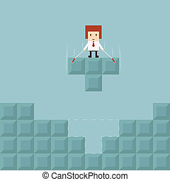 Businessman success concept, vector eps10