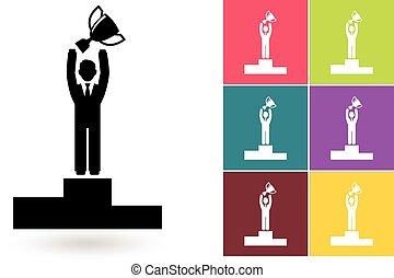 Businessman success icon