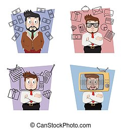 businessman success illustration