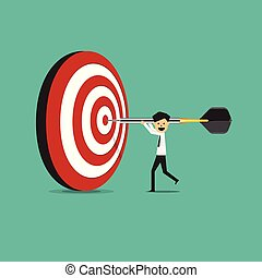 businessman success target