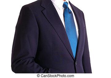 Businessman Suit Torso - Torso of a Businessman in a Dark...