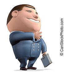 Businessman suitcase - 3d rendering, Businessman and ...