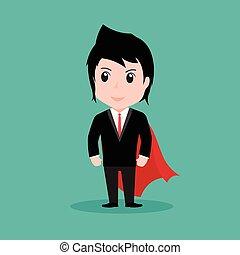 Businessman superhero concept, cartoon vector by EPS10