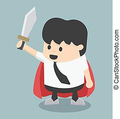 Businessman sword