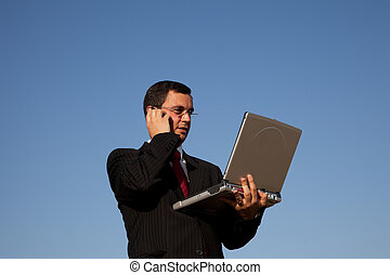 Businessman talking on the cellphone