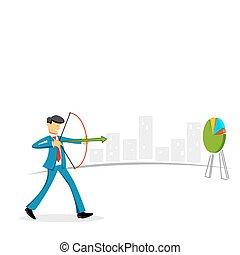 businessman targeting on board