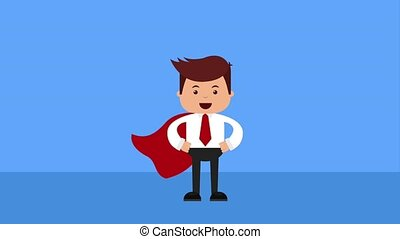 businessman tax related - businessman wearing superhero cape...