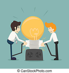 Businessman team work make idea  , eps10 vector format