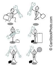 Businessman Technician doodle