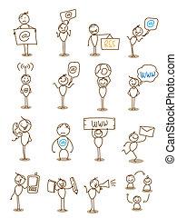 businessman technology communication concept vector
