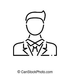 Businessman Thin Line Vector Icon