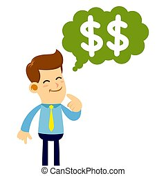 Businessman Thinking About Money