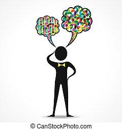 Businessman thinking concept
