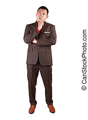 Businessman Thinking Expression