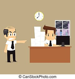 businessman to finish the work on time