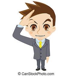 Businessman to salute