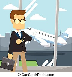 businessman travel airport