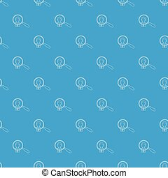 Businessman under magnifying glass pattern vector seamless blue