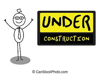 Businessman UnderConstruction