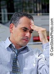 Businessman unhappy