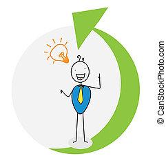 businessman up career vector image