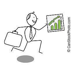 businessman Up chart
