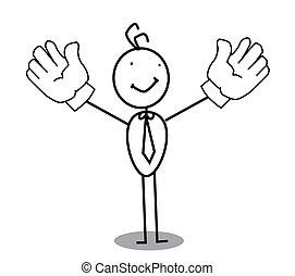 Businessman Up hand
