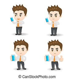businessman use smartphone