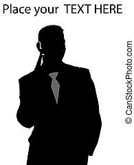 businessman using Bluetooth device - businessman using Blue...