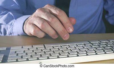 Businessman using credit card