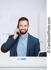 Businessman Using Mobile Phone