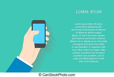 businessman using smartphone. Vector illustration EPS10