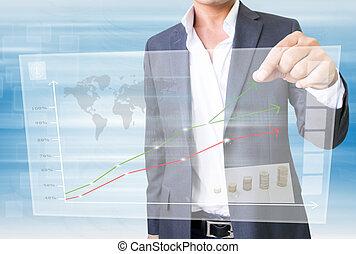 Businessman Using Stockmarket  Screen