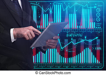 Analytics and technology concept