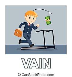 Businessman vain photo text style