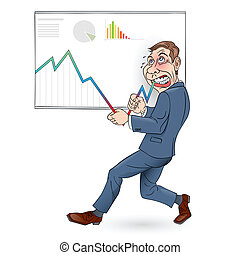Businessman - Illustration of a Businessman pushing the...