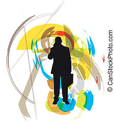 Businessman. Vector Illustration