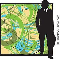 Businessman. Vector Illustration