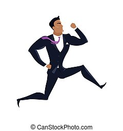 Businessman Vector Illustration in Flat Design.
