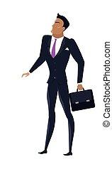 Businessman Vector Illustration in Flat Design.