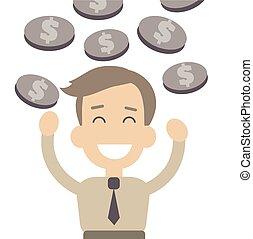 Businessman vector illustration in flat style