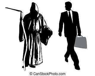 businessman versus death