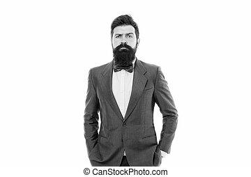 businessman., vita, moda, beard., ufficio, ufficio., moderno, barbuto, brutale, business., affari, fiducioso, suit., hipster, maturo, serio, uomo affari, maschio, festa., man., formale