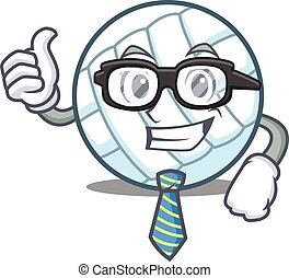 Businessman volley ball character cartoon vector...