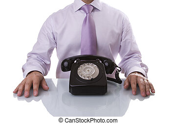 Businessman waiting for a call