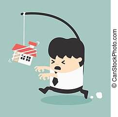 Businessman want a house